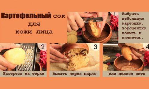 Этапы приготовления картофельного сока