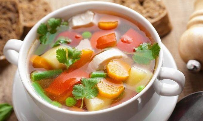 В меню больного можно включать овощные супы
