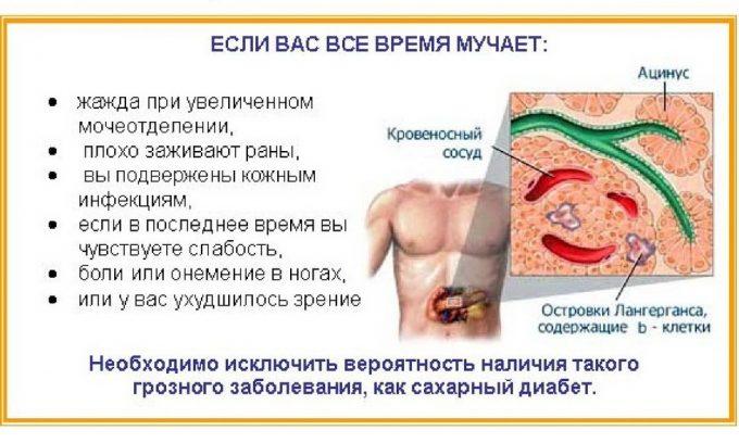 Симптомы нарушения работы поджелудочной железы
